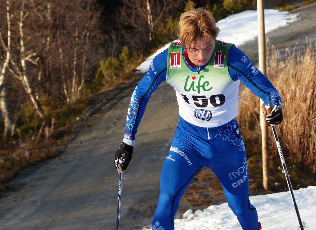 Gustaf Berglund leder efter första dagen av Björnjakten i Älvdalen. FOTO: Johan Trygg/Längd.se.