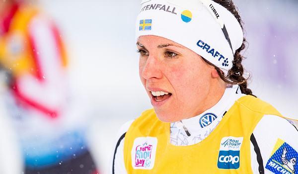 Charlotte Kalla kommer inte till start i Davos i helgen på grund av förkylning. FOTO: Jon Olav Nesvold/Bildbyrån.