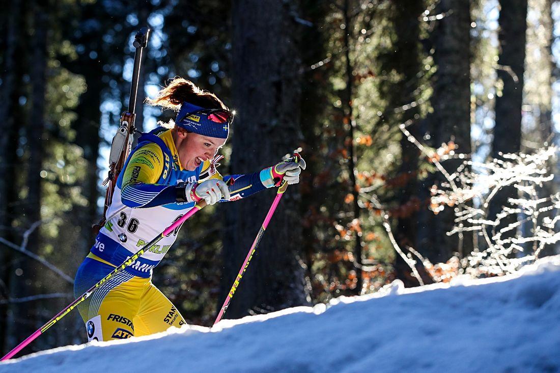Linn Persson gjorde en bra jaktstart i Hochfilzen och slutade elva. FOTO: GEPA pictures/ Matic Klansek.