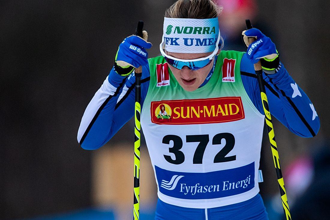 Linn Sömskar blev tvåa bakom Astrid Öyre Slind vid Skandinaviska cupen i Östersund. FOTO: Johan Axelsson/Bildbyrån.