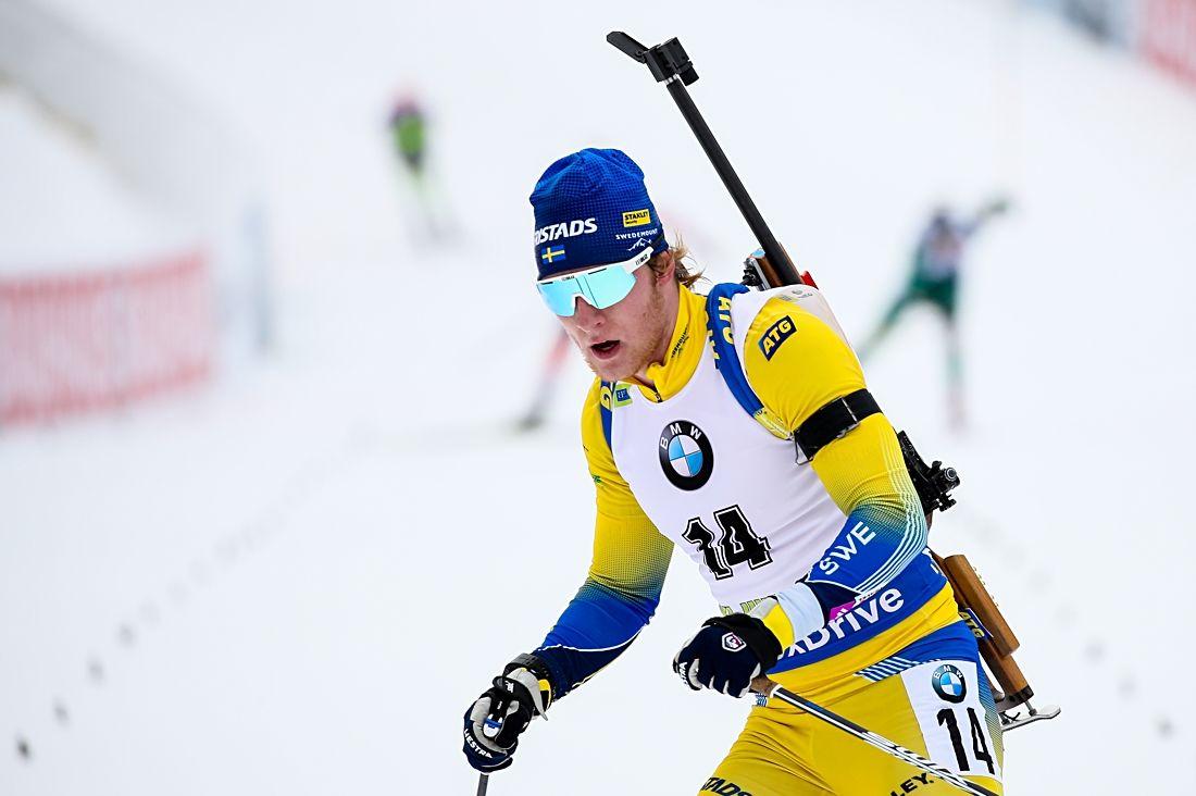 Sebastian Samuelsson förde Sverige till femte plats på världscupstafetten i Oberhof. FOTO: GEPA pictures/ Matic Klansek.