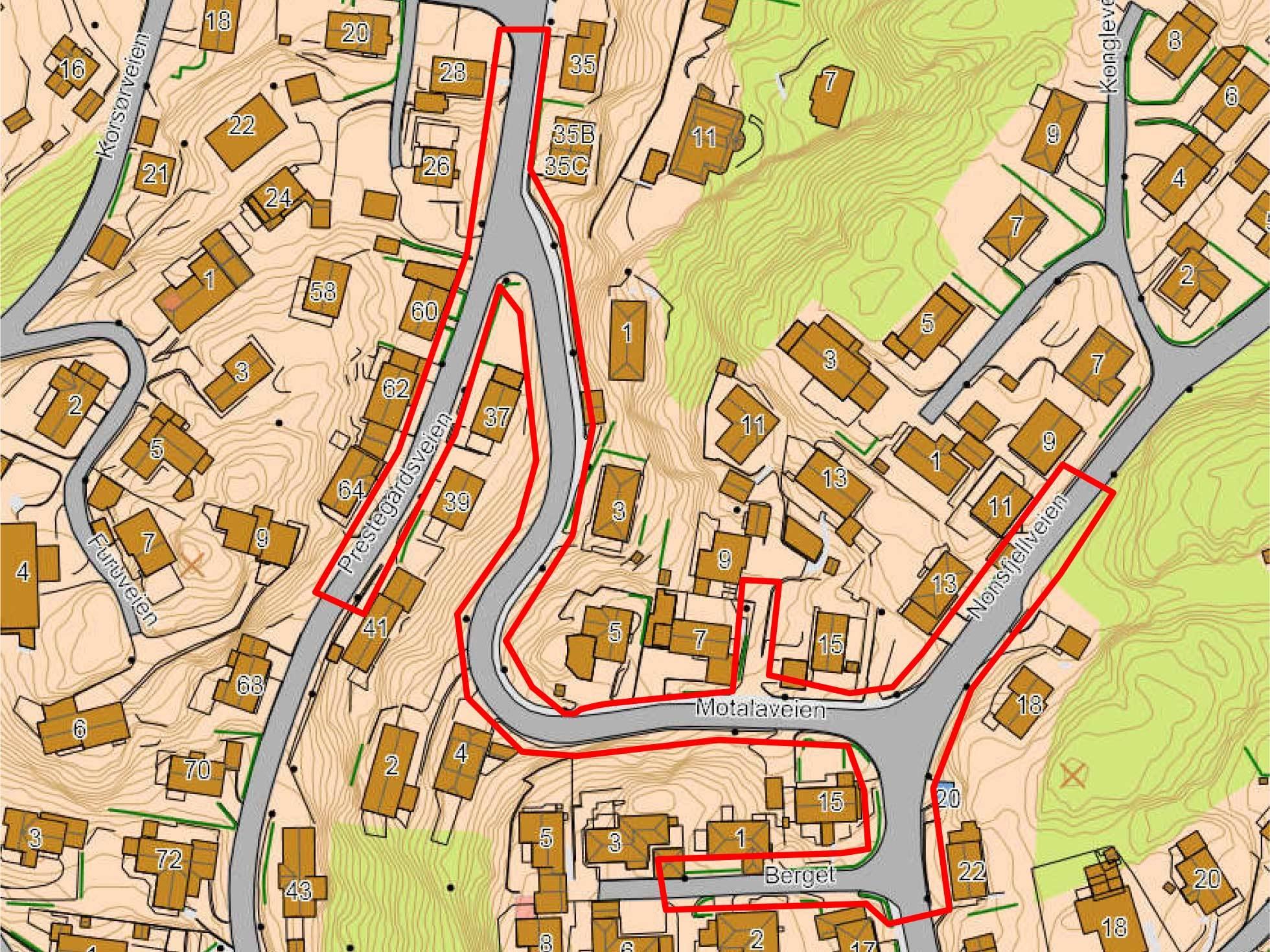 Kart over motalaveien
