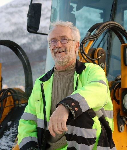 Jan Ove Kristiansen i hjullasteren