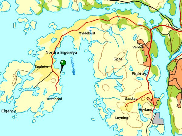 Kart over eigerøy