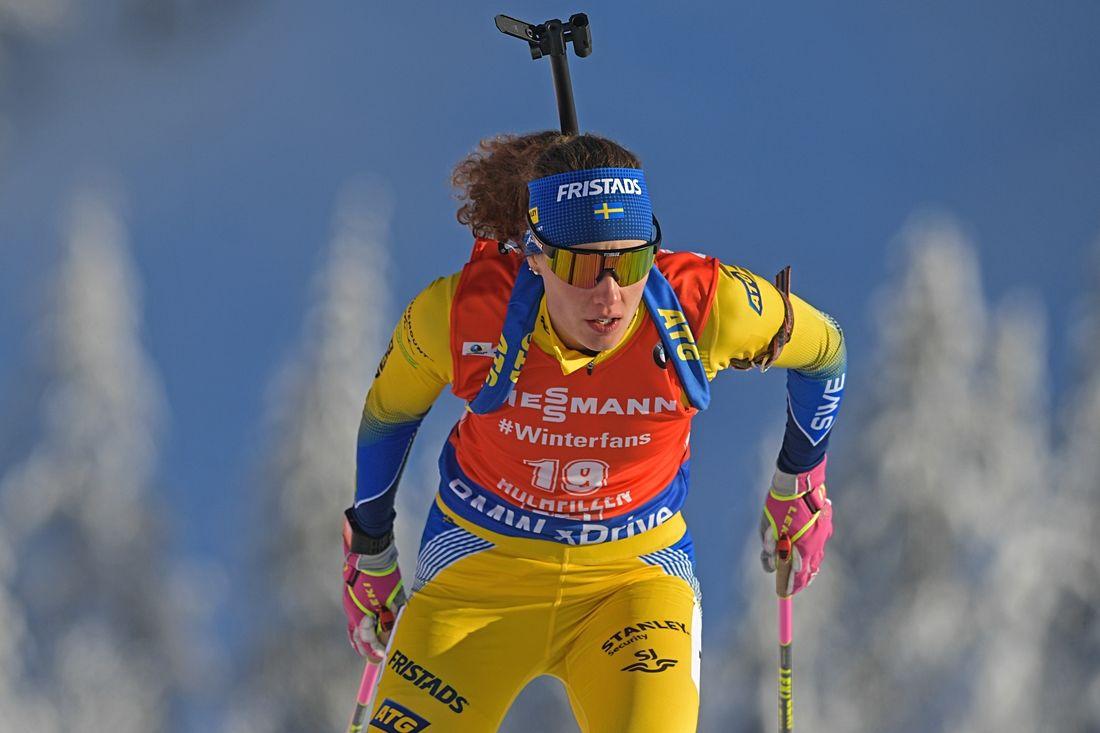 Hanna Öberg åkte in som sexa på sprinten i Nove Mesto, Tjeckien. Hannas bästa världscupplacering i sprint. FOTO: GEPA pictures/Hans Osterauer.