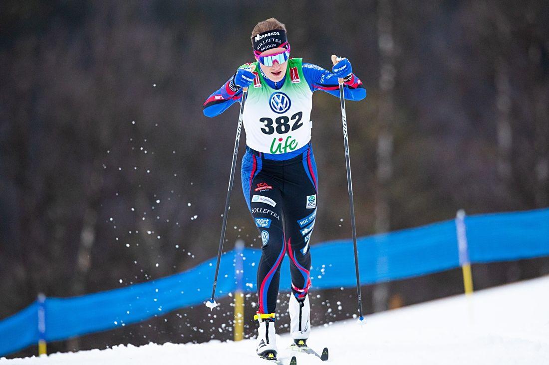 Ebba Andersson vann Norrskogssvängen hemma i Sollefteå på lördagen. FOTO: Johan Axelsson/Bildbyrån.