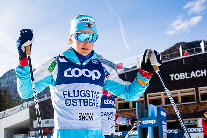Ingvild Flugstad Östberg, en favorit till slutsegern. FOTO: Fredrik Varfjell/Bildbyrån.
