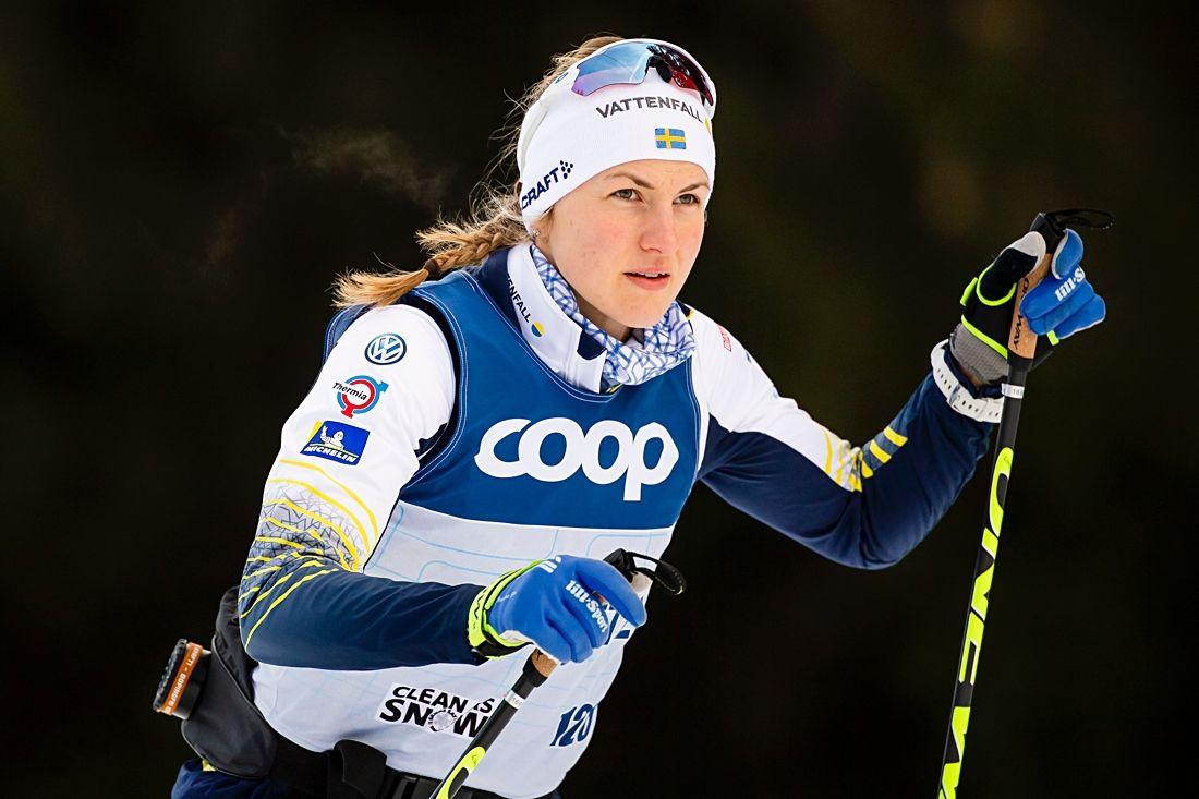 Linn Sömskar drog igång Tour de Ski med andra tid i sprintprologen i Toblach, Italien. FOTO: Fredrik Varfjell/Bildbyrån.