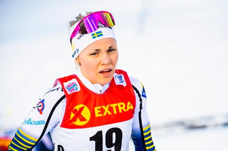 Lisa Vinsa hade åttonde tid på Final Climb och blev 14:e på touren. FOTO: Fredrik Varfjell/Bildbyrån.