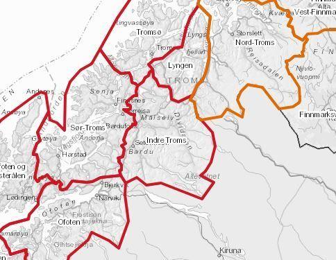 Snøskredfare kart