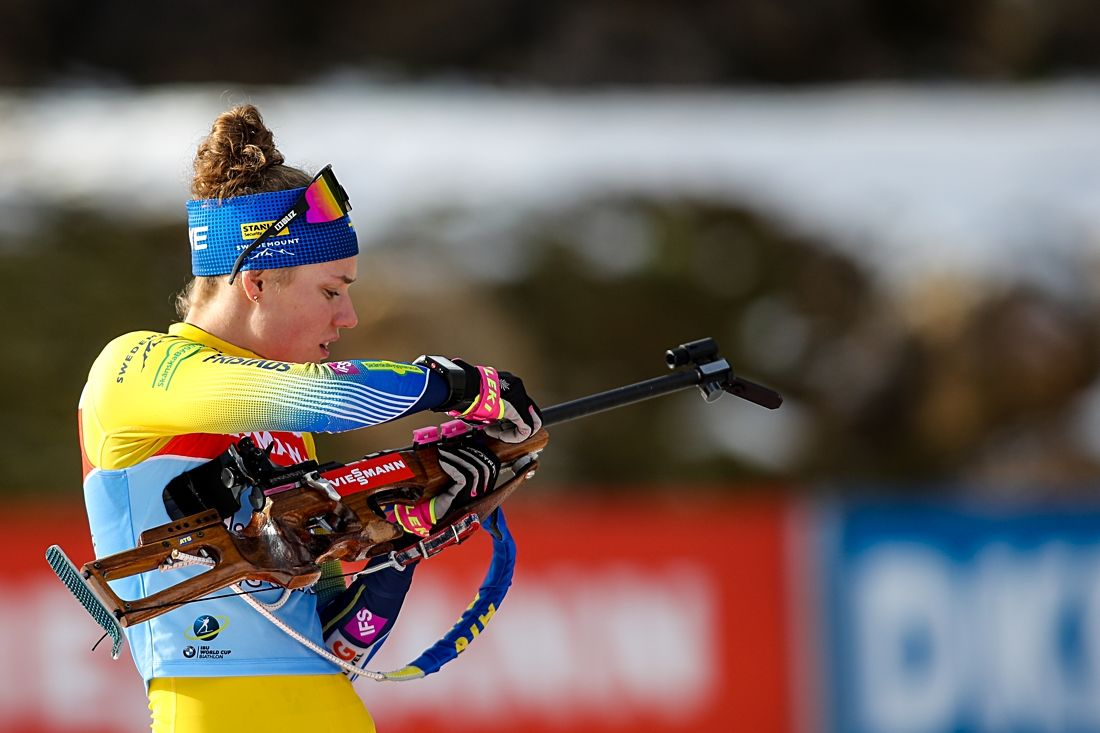 Hanna Öberg tog karriärens andra pallplats i världcupen på dagens sprint i Oberhof, Tyskland. FOTO: GEPA pictures/Matic Klansek.