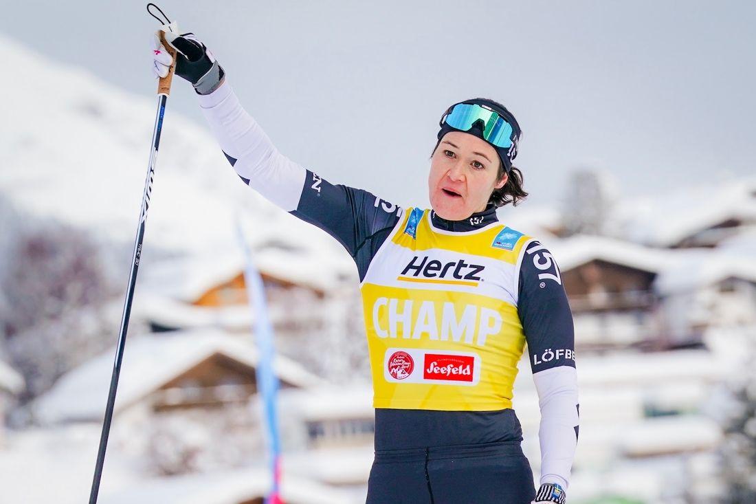 Britta Johansson Norgren tog sin 16:e seger i Ski Classics när hon vann Kaiser Maximilian Lauf i Seefeld. FOTO: Magnus Östh.