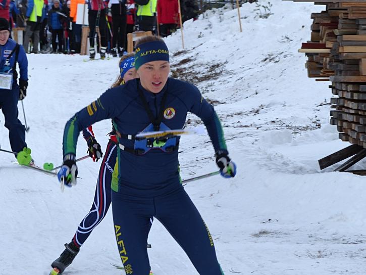Tove Alexandersson vann för andra dagen i rad i Mora. FOTO: Johan Trygg/Längd.se.