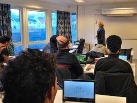 Elever ved Eigersund voksenopplæringssenter