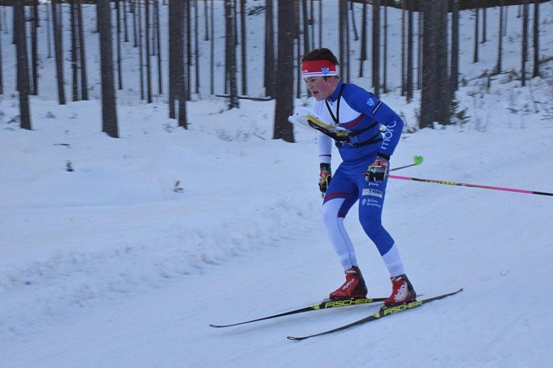 Jonatan Ståhl, IFK Mora OK, är en av åkarna i den svenska truppen till juniorlandskampen i skidorientering i Lettland. FOTO: Anders Öberg.