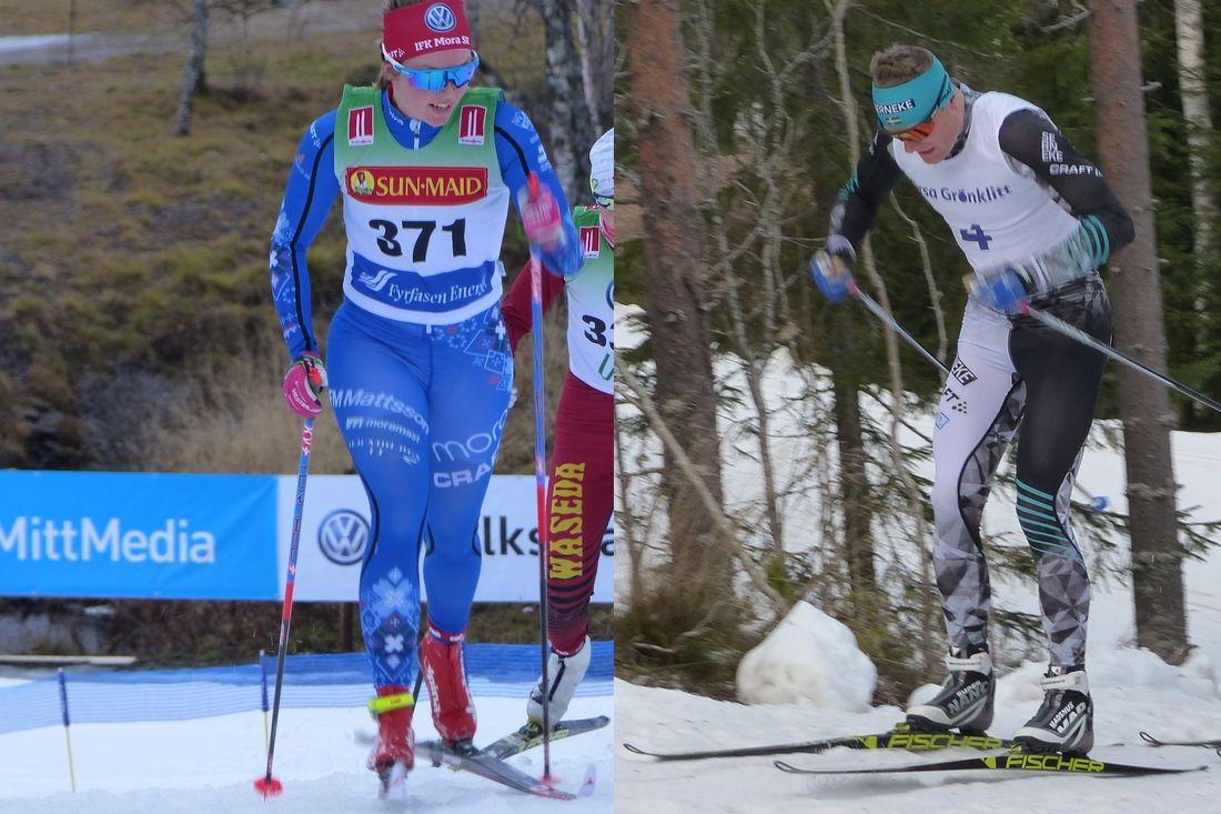 Frida Erkers och Jimmie Johnsson är två av favoriterna i Moraloppet på lördag. FOTO: Johan Trygg/Längd.se.