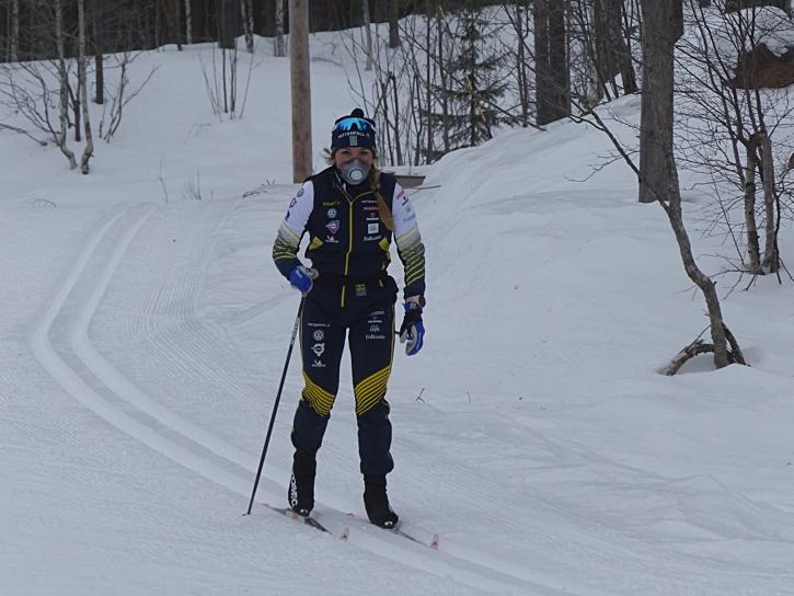 Ulricehamns IF:s Johanna Hagström har haft en vass start på sin första seniorsäsong och blir spännande att följa i Lahtis. FOTO: Johan Trygg/Längd.se.