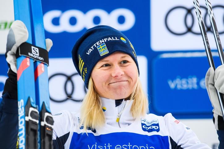 Maja Dahlqvist på pallen för andra helgen i rad. FOTO: Jon Olav Nesvold/Bildbyrån.