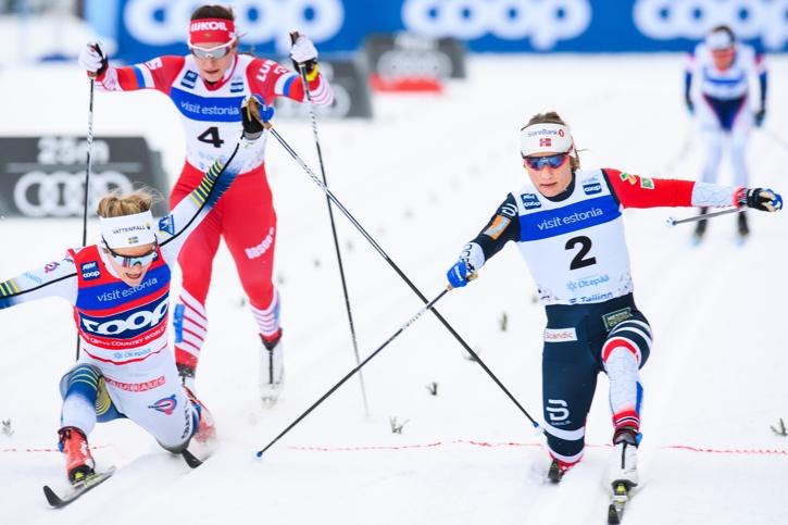 Stina Nilsson sträckte sig när hon gjorde en spagat-målgång i semifinalen. Hon fick avstå finalen och slutade sexa. FOTO: Jon Olav Nesvold/Bildbyrån.