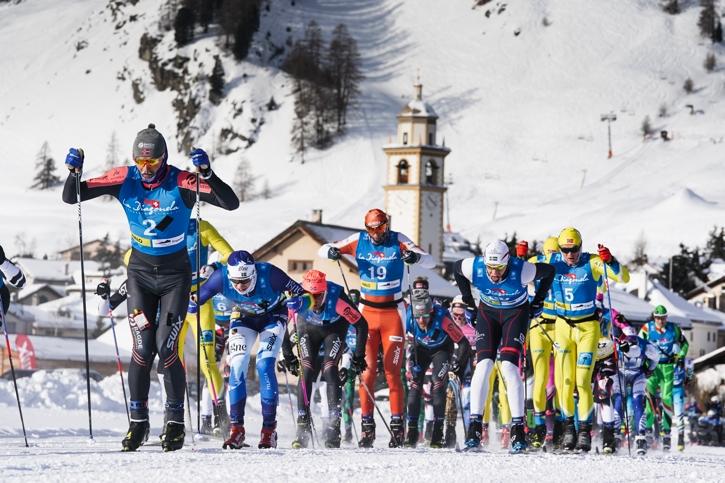 Det var kalla tuffa förhållanden under La Diagonela. Här har vi slutsegraren Andreas Nygaard i täten före bland annat Klas Nilsson, Team Igne, i blått och Rikard Tynell, Team Tynell i vit mössa. FOTO: Magnus Östh.