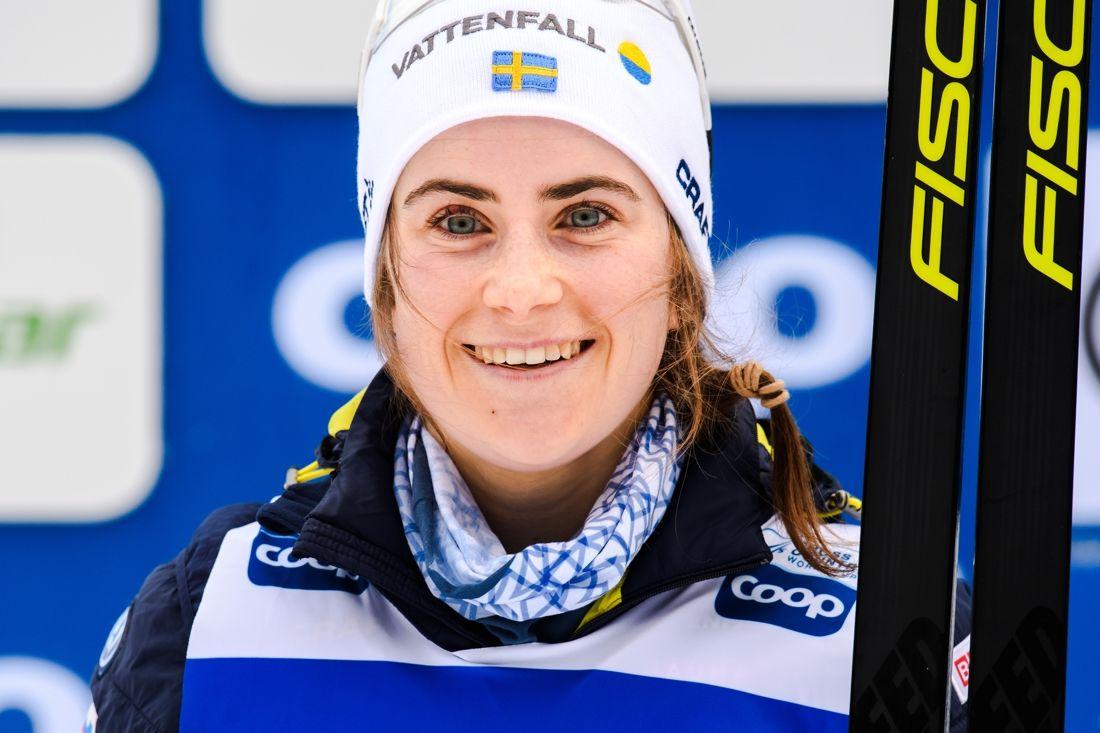 Ebba Andersson blir givetvis en publikfavorit när världscupen kommer till Ulricehamn i helgen. FOTO: Jon Olav Nesvold/Bildbyrån.