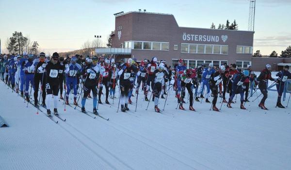 Östersund Ski Marathon genomfördes i härligt vinterväder på söndagen. FOTO: Österunds SK.