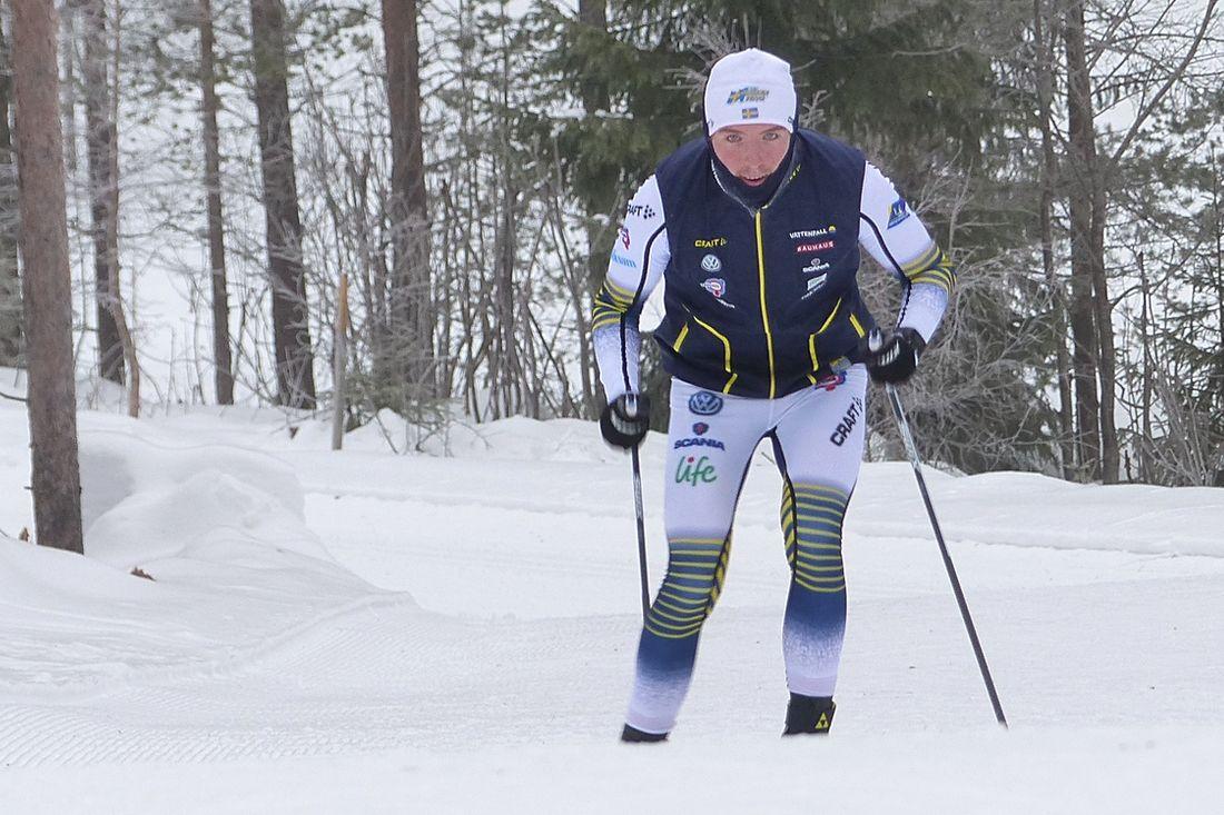 William Poromaa åkte starkt på JVM:s tremil masstart och slutade på nionde plats. FOTO: Johan Trygg/Längd.se.