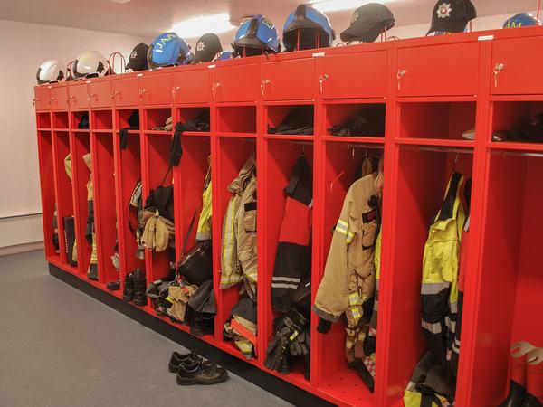Garderober for brann- og redning