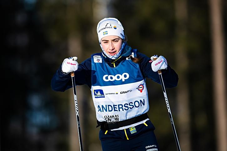 Ebba under test av världscupbanan i Ulricehamn på fredagen. FOTO: Mathias Bergeld/Bildbyrån.