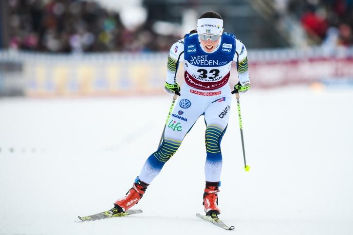 Charlotte Kalla söker ännu efter VM-formen. Kanske börjar vi få se den under SM nästa vecka. FOTO: Mathias Bergeld/Bildbyrån.
