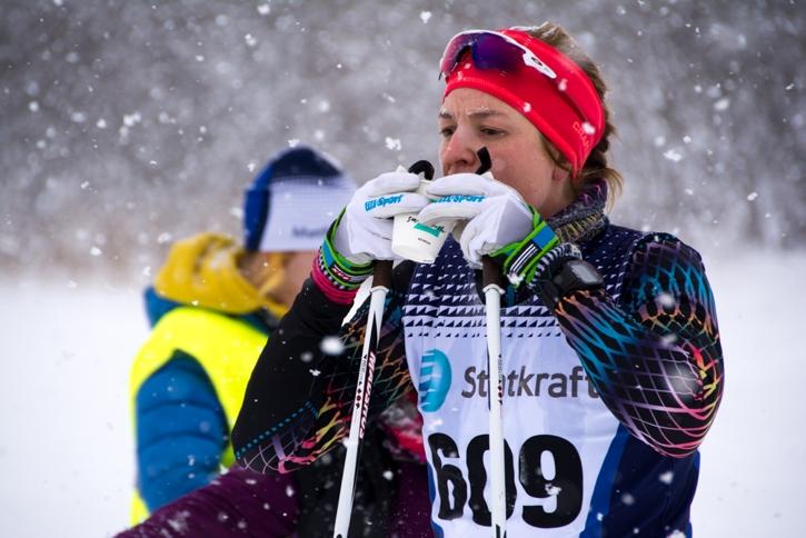 Elin Vedin som var snabbast i damernas lopp över 42 kilometer. FOTO: Matfors SK.