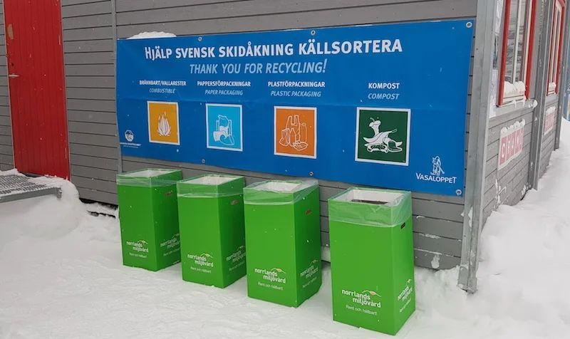 Under SM i Sundsvall satsar man på att bygga upp en mer hållbar vallaby. FOTO: Svenska skidförbundet.
