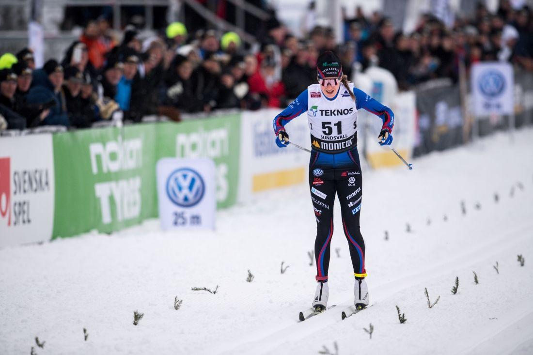 Ebba Andersson vann sitt första SM-guld i överlägsen stil. FOTO: Simon Hastegård/Bildbyrån.