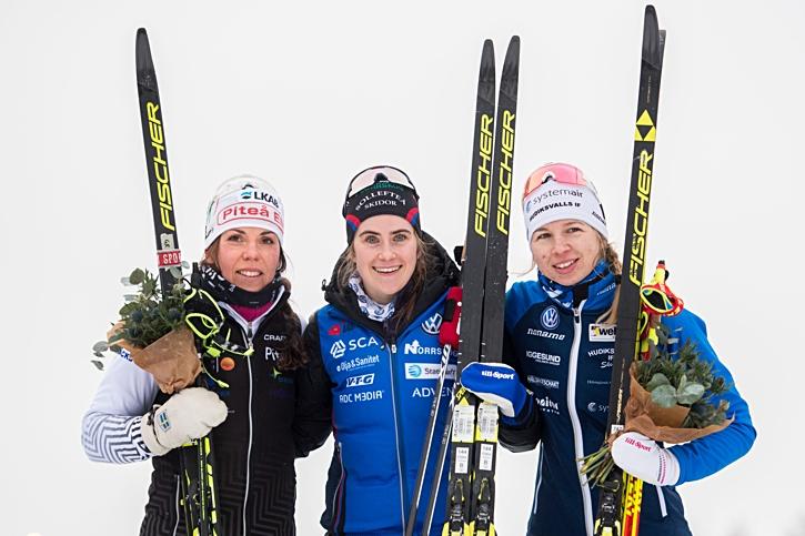 Medaljtrion Kalla, Andersson och Settlin. FOTO: Simon Hastegård/Bildbyrån.