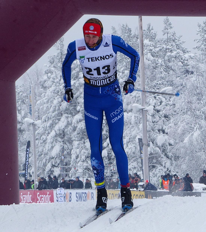 Jonas Eriksson åkte in som femma tio sekunder efter Eric Rosjö. FOTO: Johan Trygg/Längd.se.