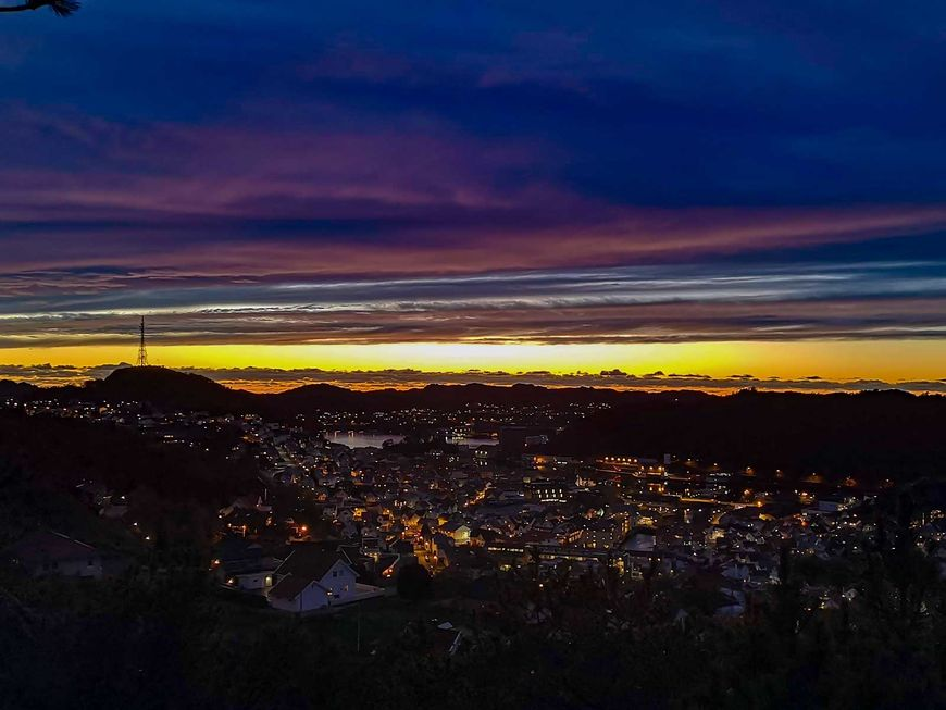Egersund sentrum natt