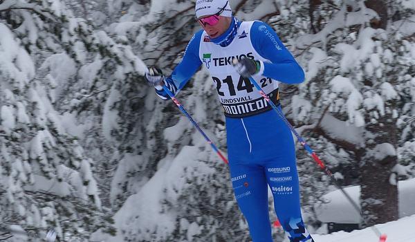 Daniel Richardsson har ändrat sin träning markant och siktar mot vinterns VM i Oberstdorf, Tyskland. Här är Daniel på väg mot SM-guld på 30 kilometer i Sundsvall 2019. FOTO: Johan Trygg/Längd.se.