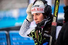 Charlotte Kalla väljer att inte tävla mer under SM-veckan i Sundsvall. FOTO: Simon Hastegård/Bildbyrån.