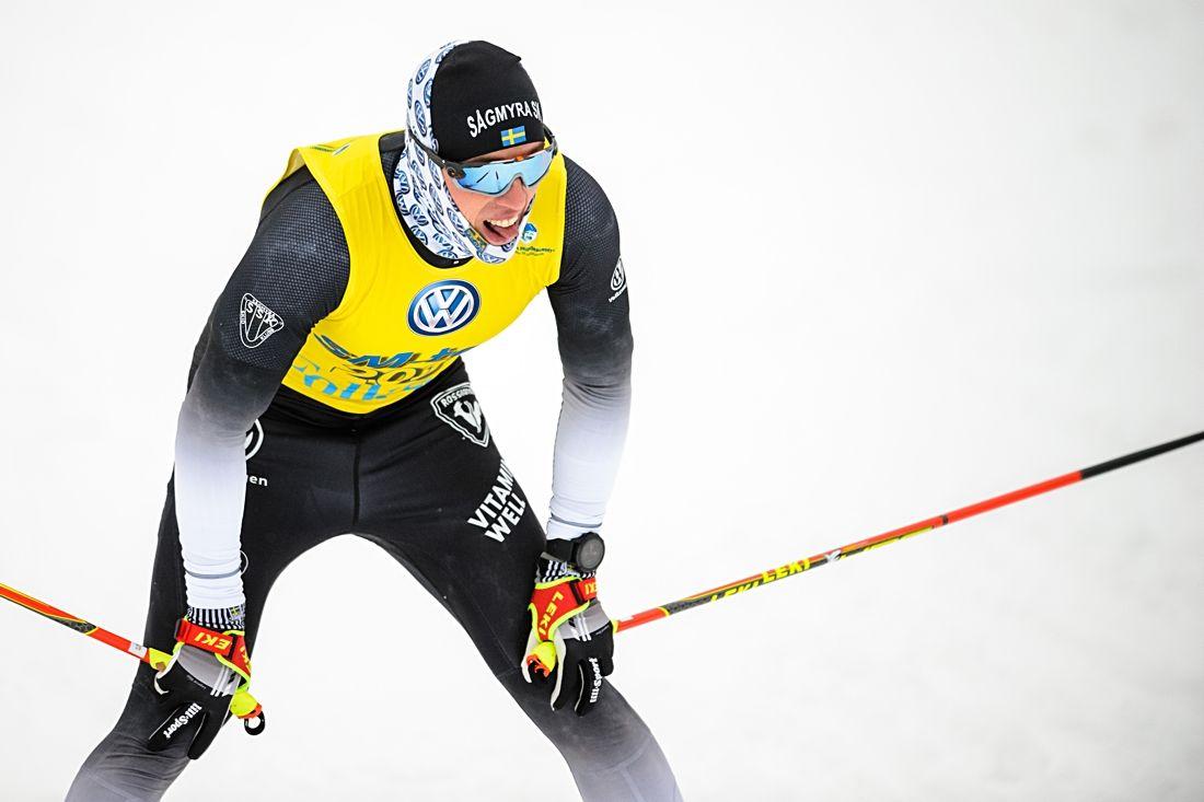 Sågmyras Calle Halfvarsson var klart kvalsnabbast vid SM-sprinten i Sundsvall. FOTO: Simon Hastegård/Bildbyrån.