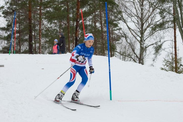 Fullt fokus mellan slalomkäpparna. FOTO: Bengt Lord.
