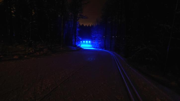 Vilket inspirerande skidspår. FOTO: Borås SK.