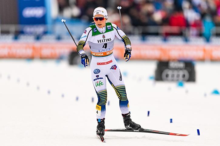 Unga Johanna Hagström imponerade med en niondeplats på sin första världscuptävling i landslagsdräkten. FOTO: Johanna Lundberg/Bildbyrån.
