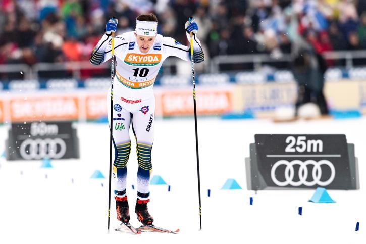 Teodor Peterson var bäst av de svenska sprintherrarna i Lahtis med en åttondeplats. FOTO: Johanna Lundberg/Bildbyrån.