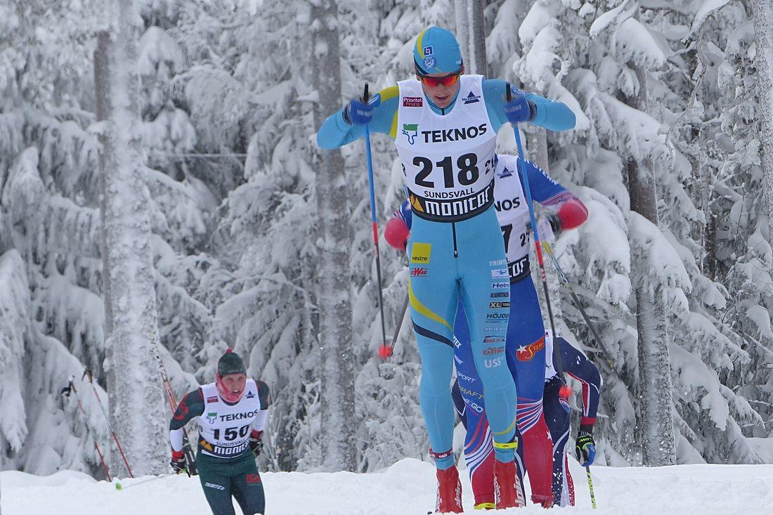 Oscar Persson hade kvar formen från SM-veckan när han i dag solovann Orsa Grönklitt Ski Marathon. FOTO: Johan Trygg/Längd.se.