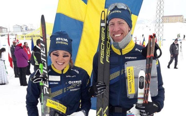 Tove Alexandersson tog guld och Erik Rost bron vid långdistansen under EM i skidorientering i Turkiet. FOTO: Svenska orienteringsförbundet.