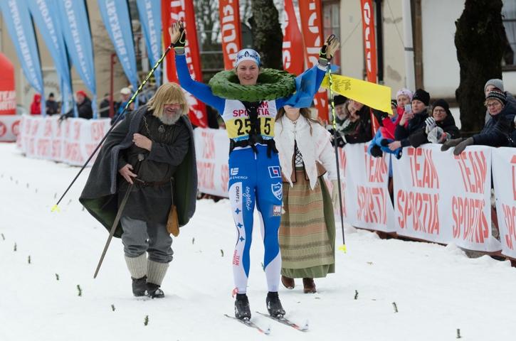 Linn Sömskar tog en överlägsen seger i damklassen på Engelbrektsloppet. FOTO: Mattias Forsberg.