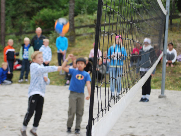 Volleyball i vannbassengan