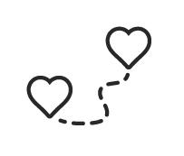 Kart: hjerte til hjerte