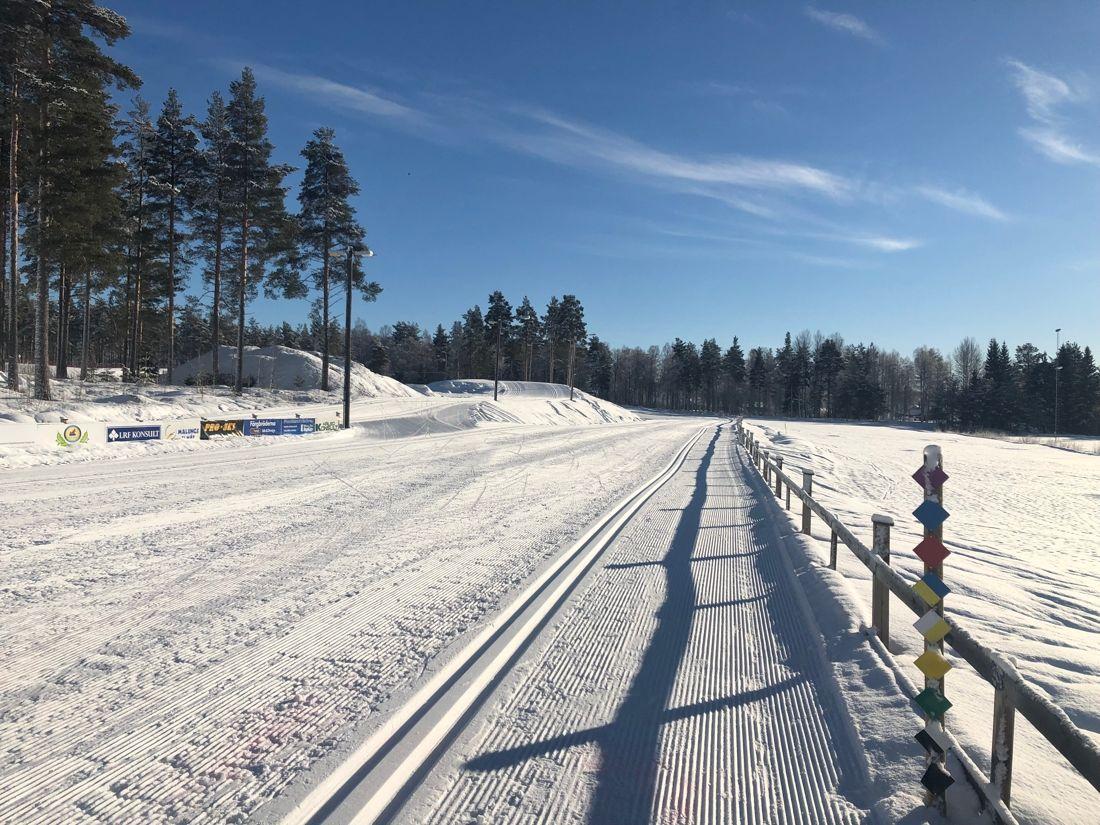 Det är bäddat för fina förhållanden i Malung inför 89:e Skinnarloppet på söndag. FOTO: Maria Eriksson.