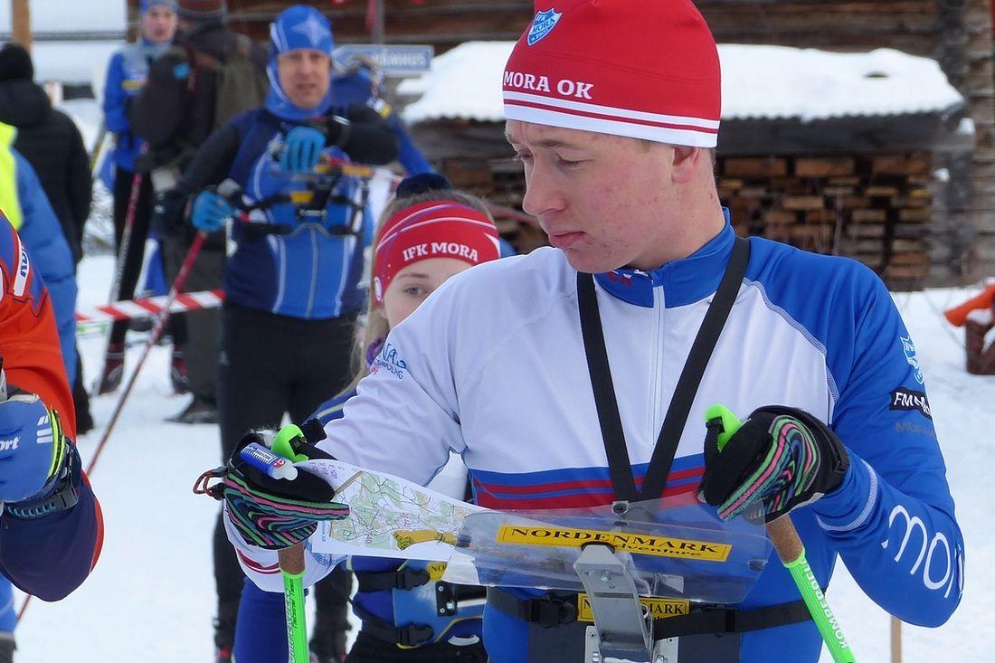 Gustav Johnsson, IFK Mora OK, är en av åkarna i den svenska truppen till JVM i skidorientering. FOTO: Johan Trygg/Längd.se.